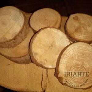 Rodajas rústicas de madera